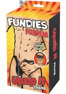 Fundies Unzip It Thong W/  Mask -o/s
