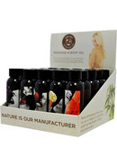 Hemp Seed Massage And Body Flavored Oil Display 25 Each...