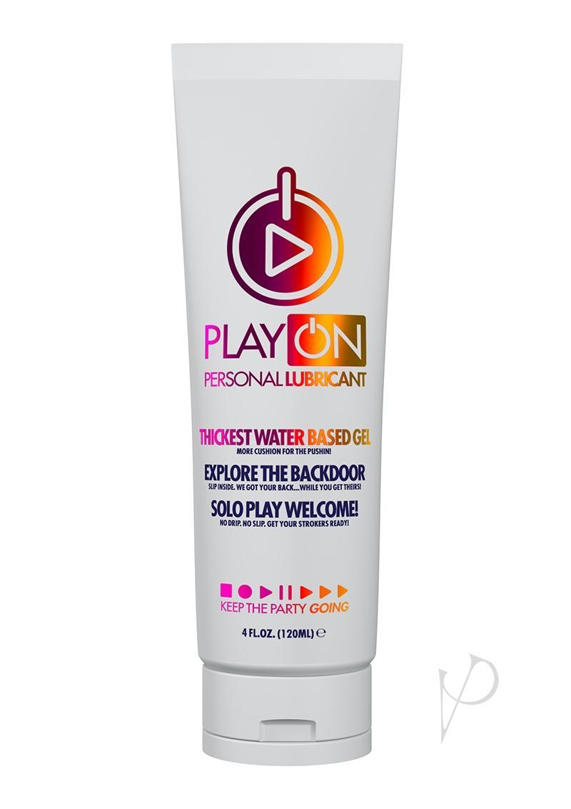 Play On Personal Lubricant Thick Water Based Gel 4 Ounce