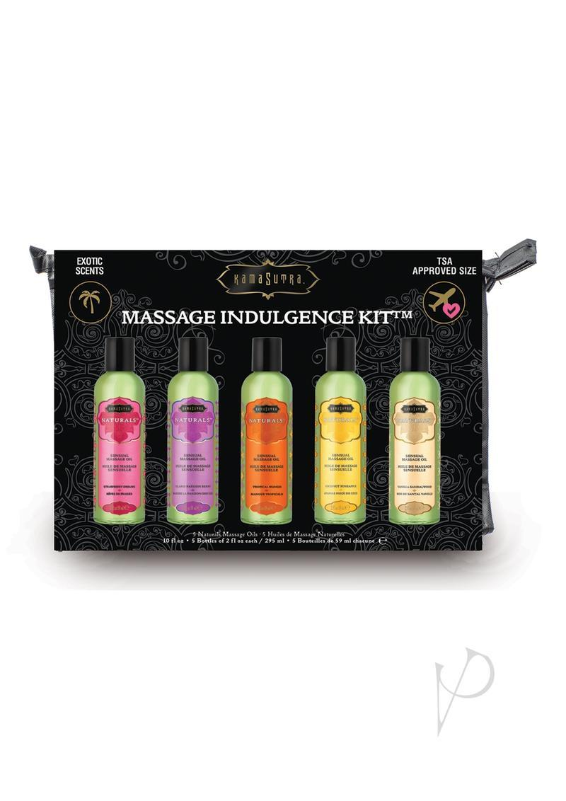 Massage Indulgence Kit Massage Oils Scented 2 Ounce  Bottle